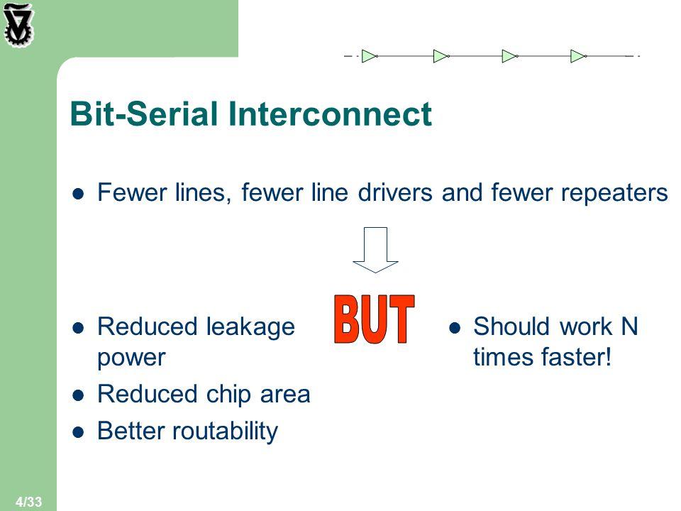 25/33 Register-Pipelined Link vs.