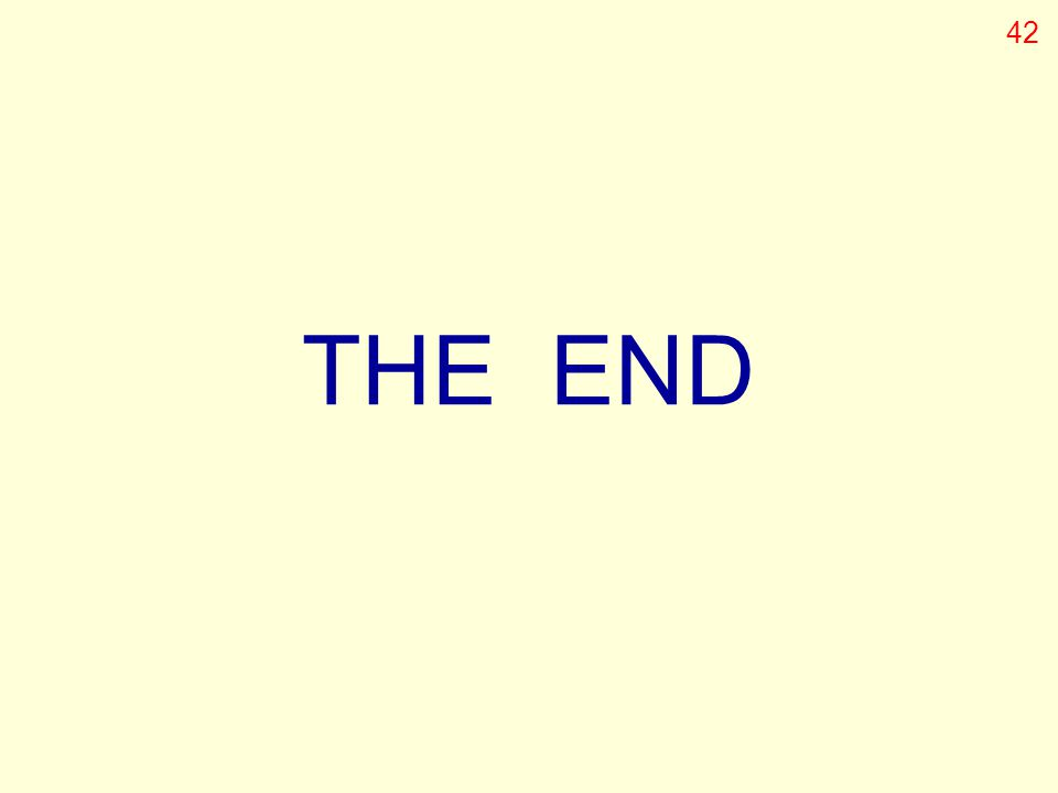 THE END 42