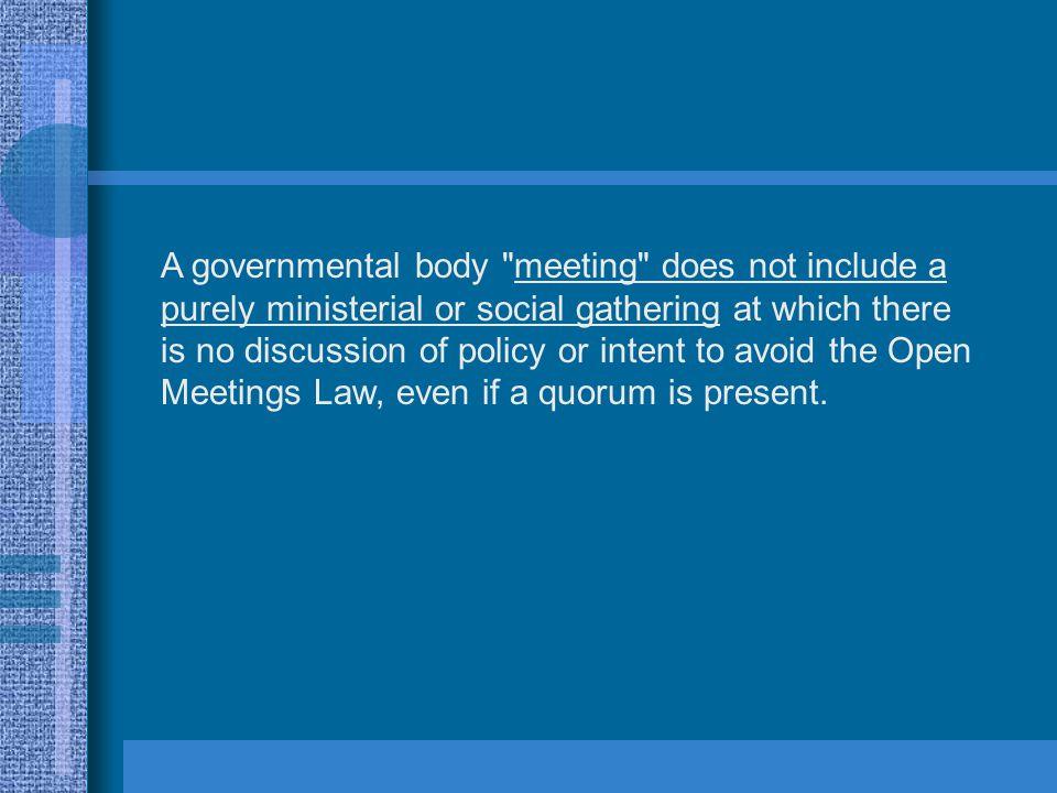 A governmental body