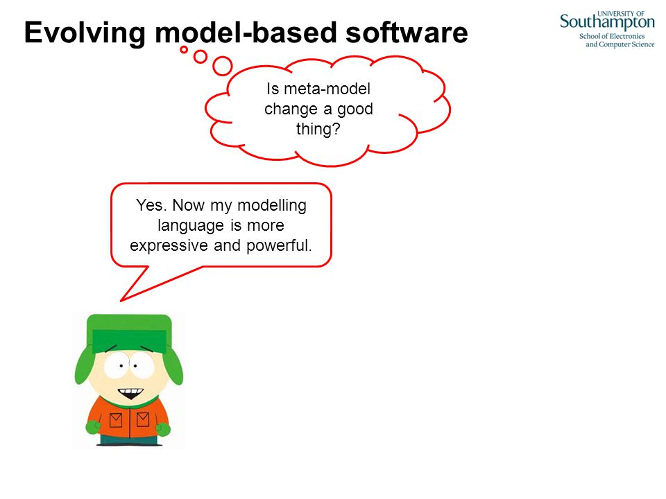 Evolving model-based software Is meta-model change a good thing.