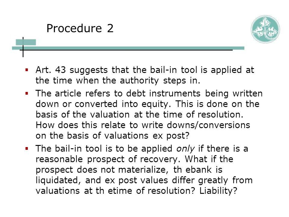Procedure 2  Art.