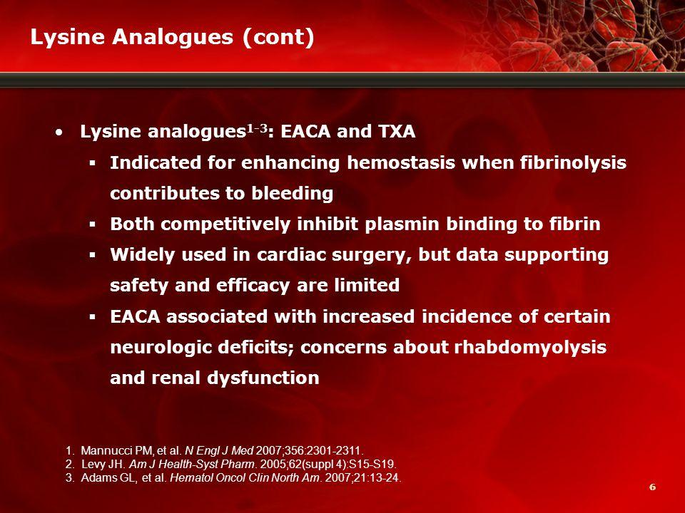 27 Thrombotic Adverse Events (cont) Levy JH, et al.