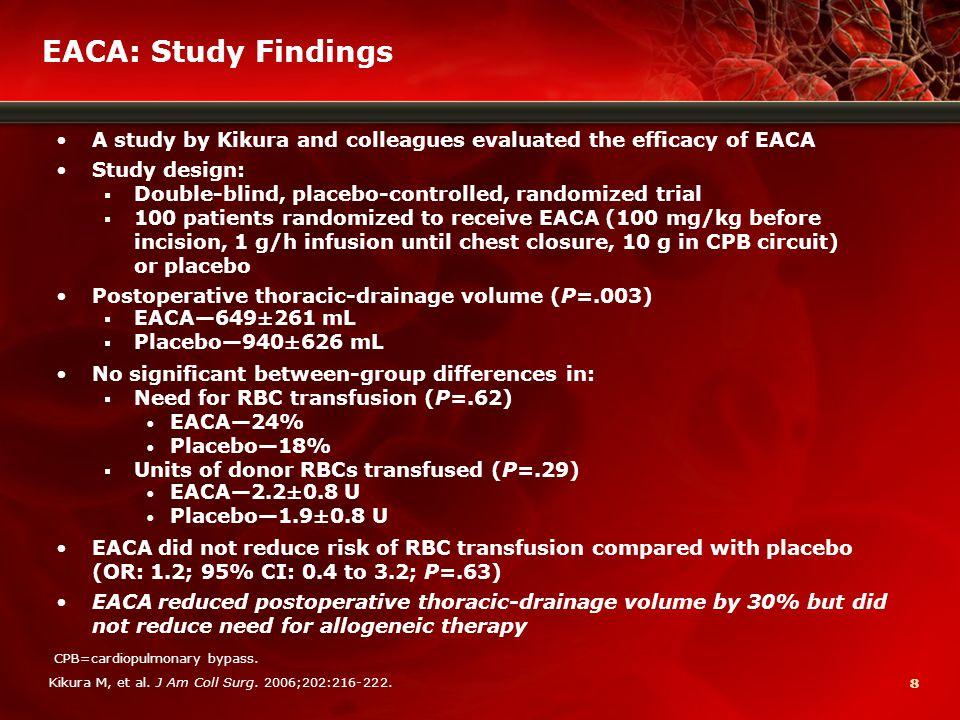 99 Blood Conservation Using Antifibrinolytics Trial (BART) Fergusson DA, et al.