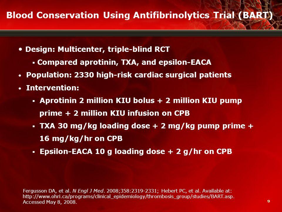 10 BART Trial (cont) Fergusson DA, et al.N Engl J Med.