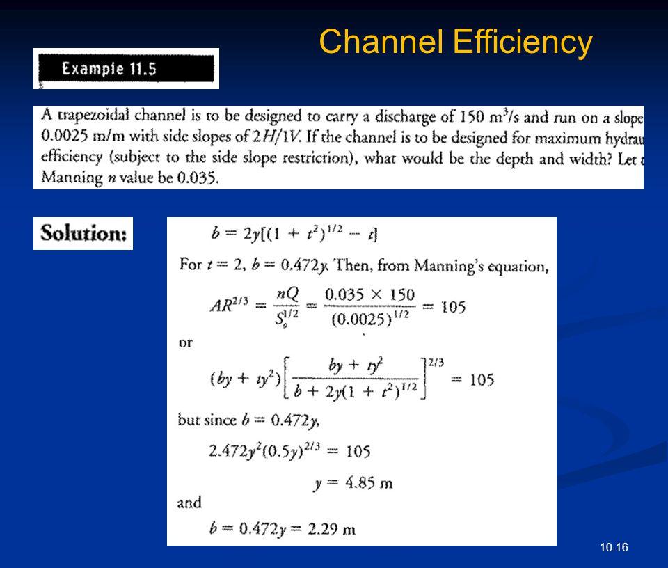 10-16 Channel Efficiency