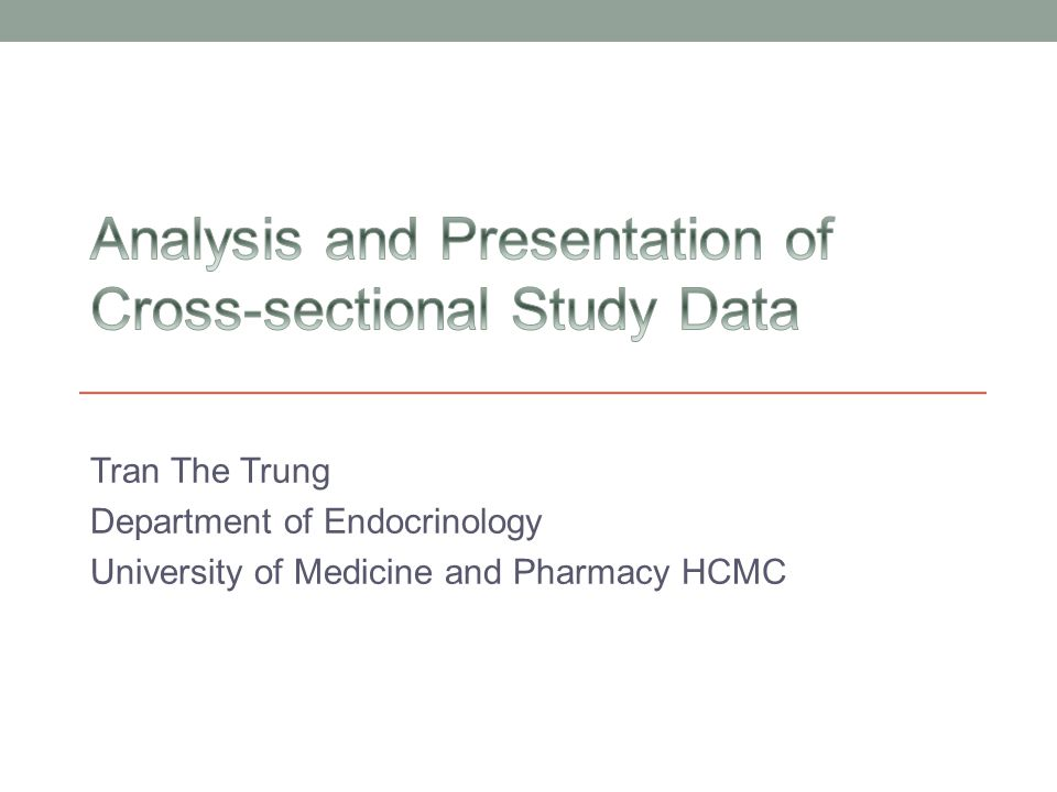 Tran The Trung Department of Endocrinology University of Medicine and Pharmacy HCMC