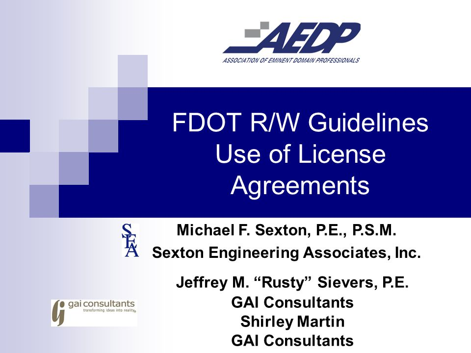 FDOT Right-of-Way Instruments Fee Simple Right-of-Way Perpetual Easements Temporary Easements License Agreements