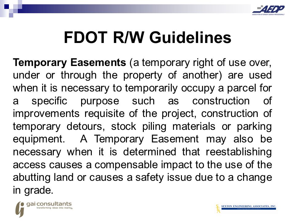 No improvement which requires maintenance by the Department beyond the term of the easement can be constructed on a temporary easement.