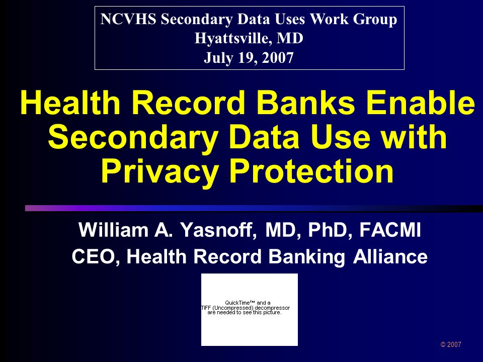 Health Record Banks Enable Secondary Data Use with Privacy Protection William A.