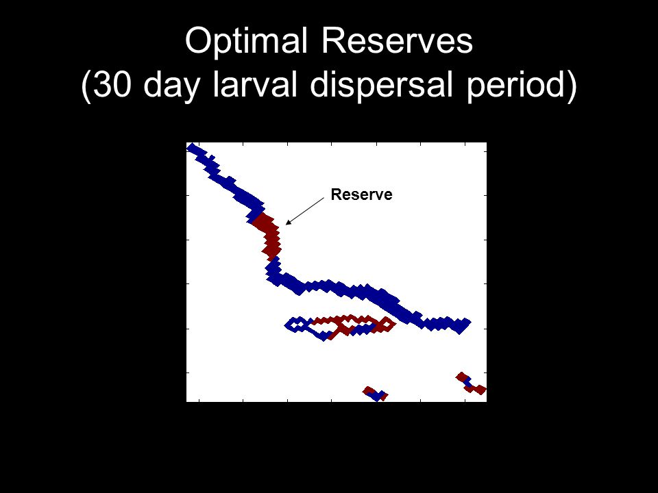 Optimal Reserves (30 day larval dispersal period) Reserve