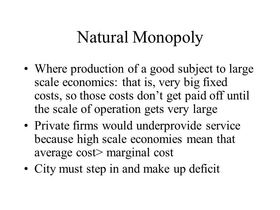 Tradeoff 1: Scale Economies v.