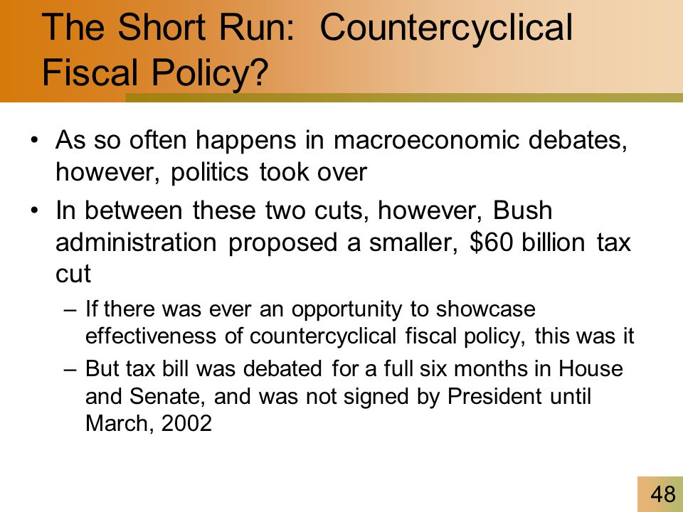 48 The Short Run: Countercyclical Fiscal Policy.