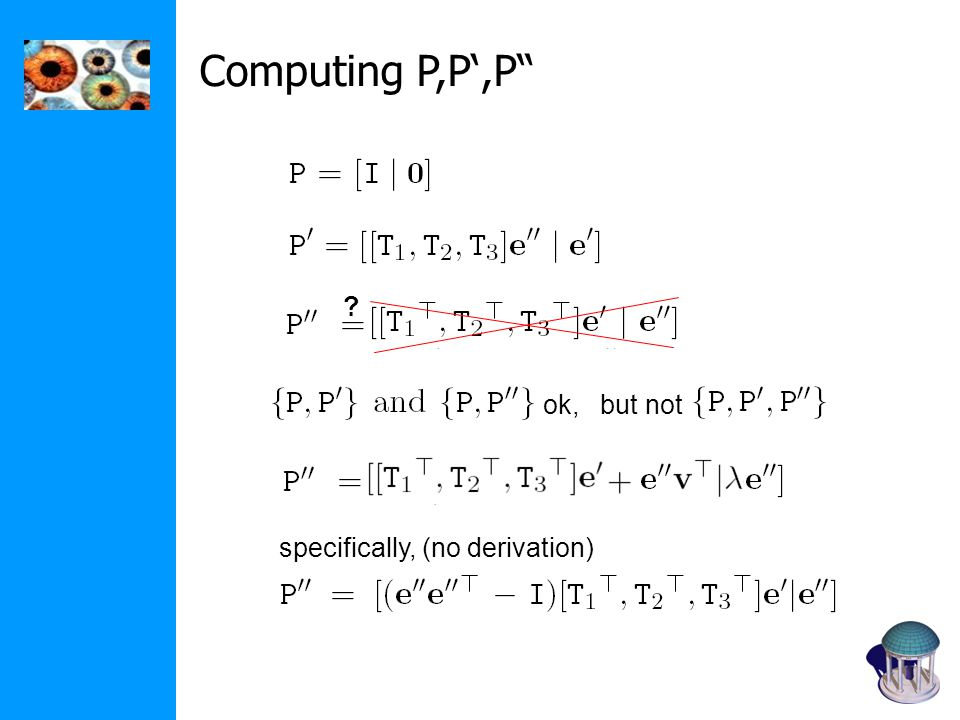 Computing P,P',P ok, but not specifically, (no derivation)