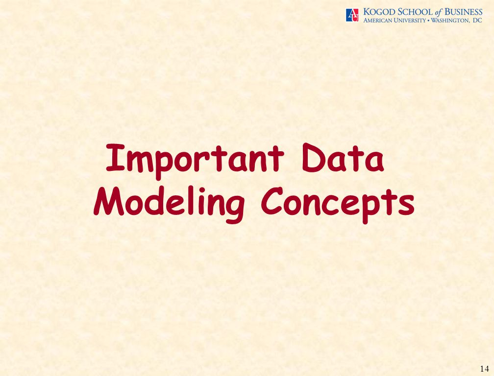 14 Important Data Modeling Concepts