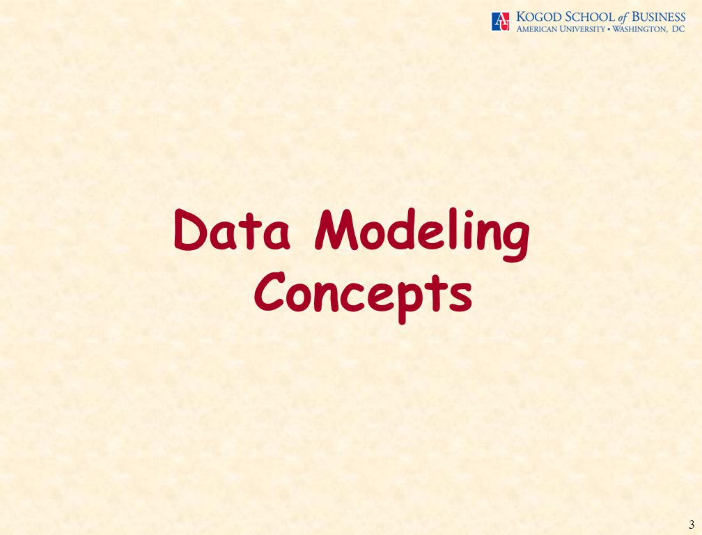 3 Data Modeling Concepts