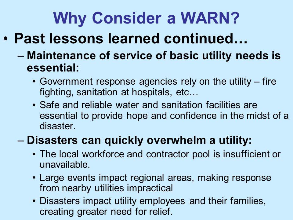 Why Consider a WARN.