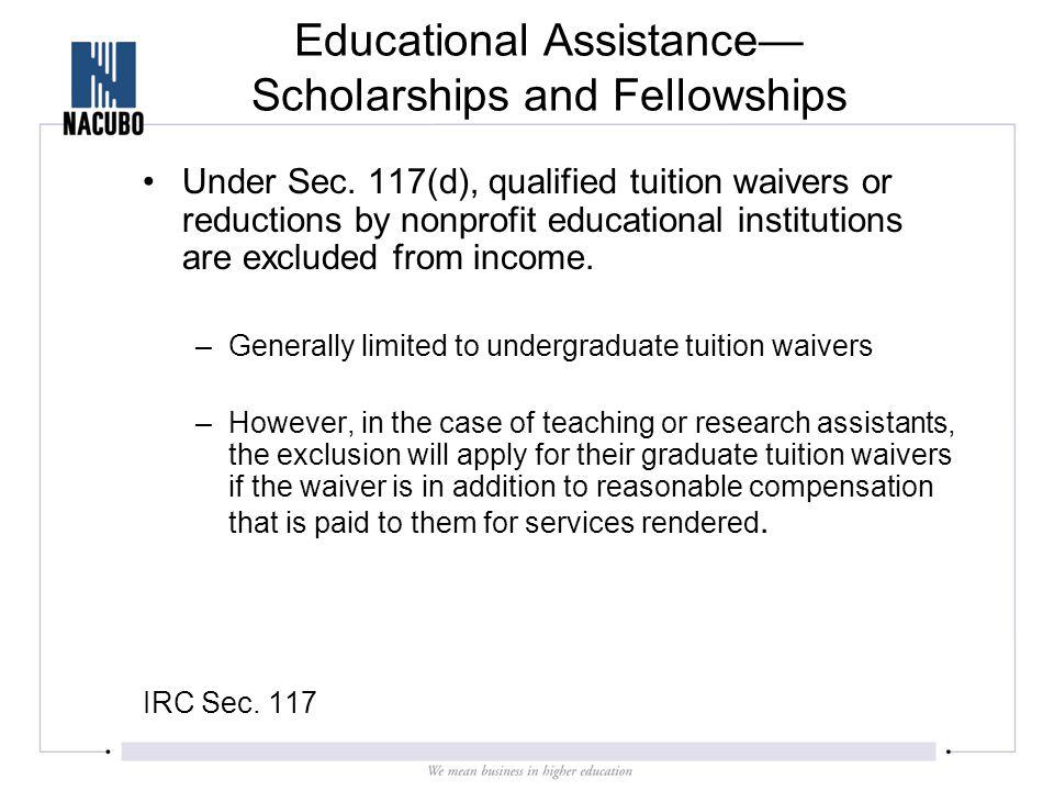 Education Assistance Programs- Sec.