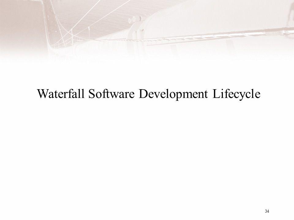 34 Waterfall Software Development Lifecycle
