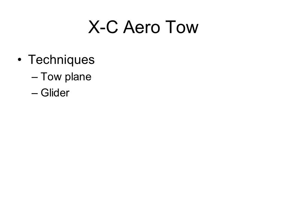 X-C Aero Tow Techniques –Tow plane –Glider
