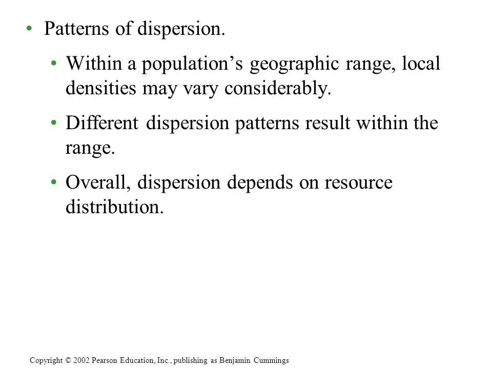 Patterns of dispersion.