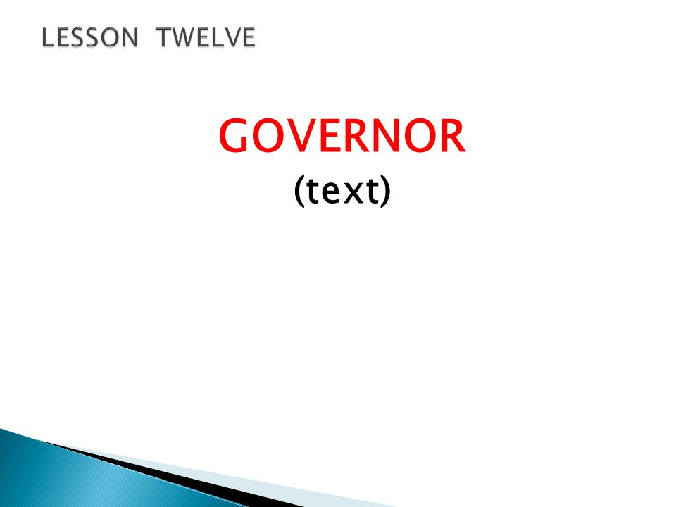GOVERNOR (text)