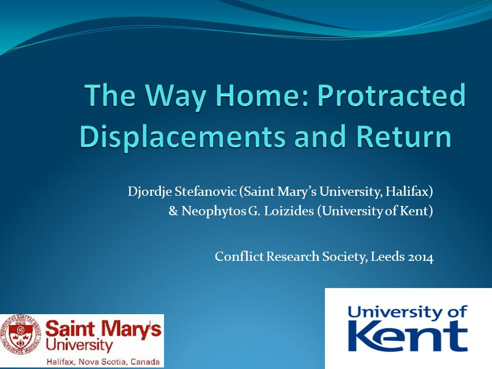 Findings: Common Patterns Older men are more likely to be returnees Community return matters.