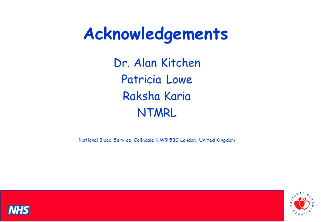 PCS Conference Acknowledgements Dr.