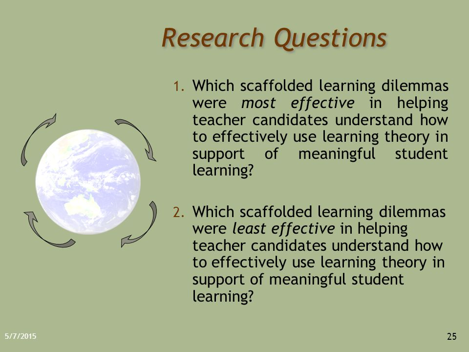 5/7/2015 25 Research Questions 1.