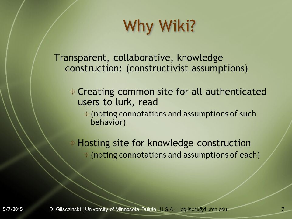 5/7/2015 7 Why Wiki.