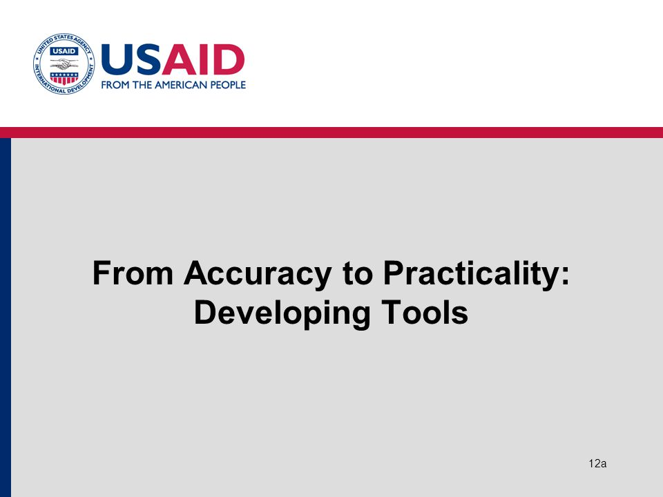 12a From Accuracy to Practicality: Developing Tools