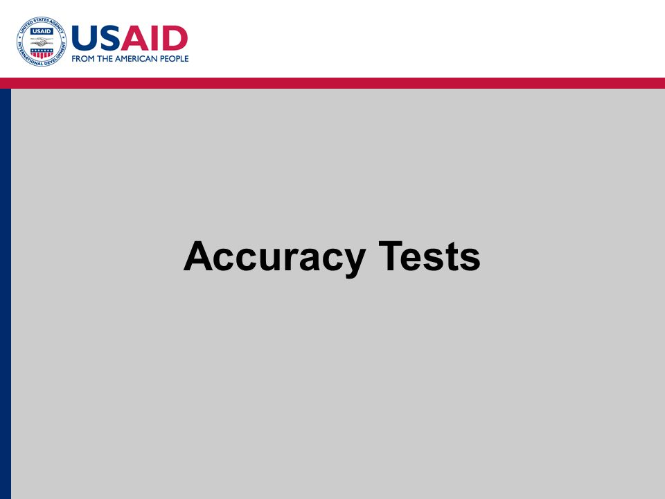 7 Accuracy Tests