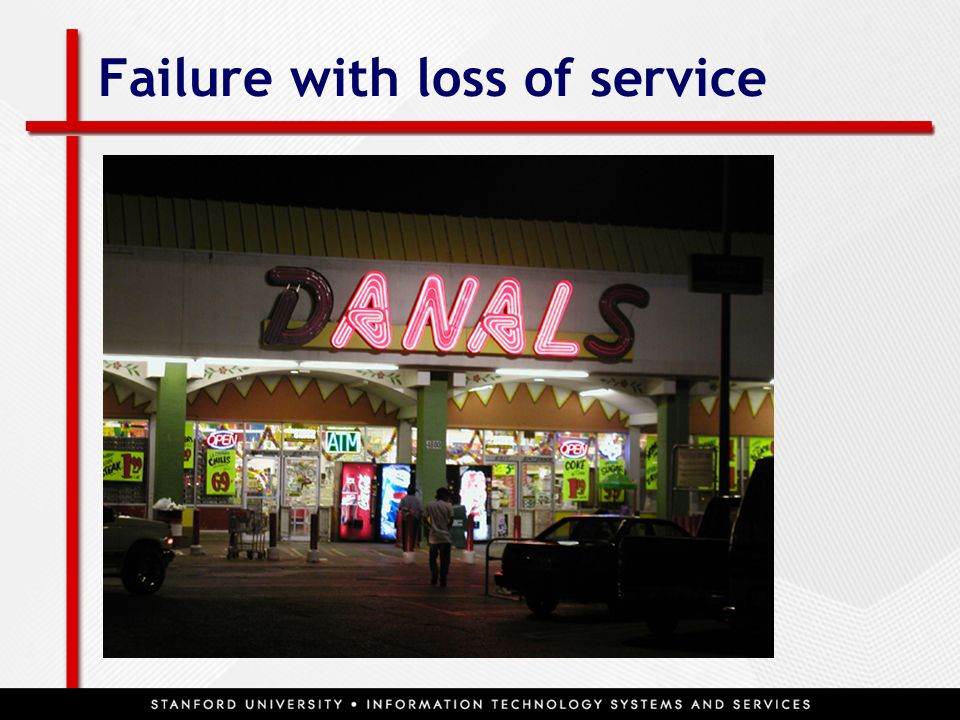 Failure with loss of service