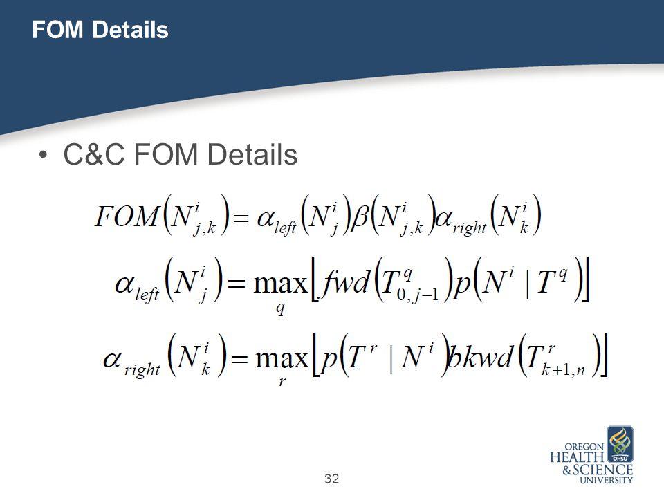 32 FOM Details C&C FOM Details