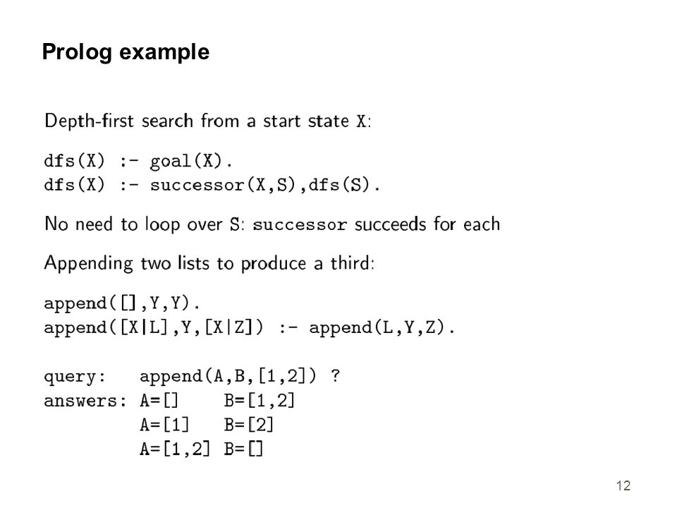 12 Prolog example