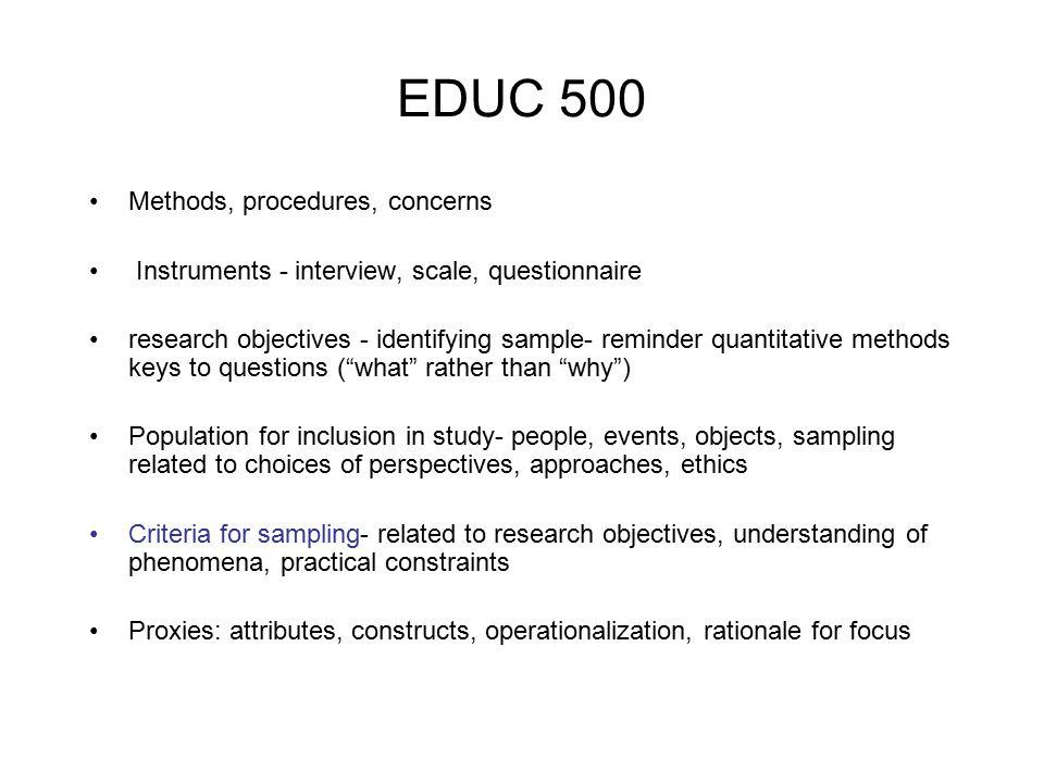 EDUC 500 Diversity: Homogeneity vs.
