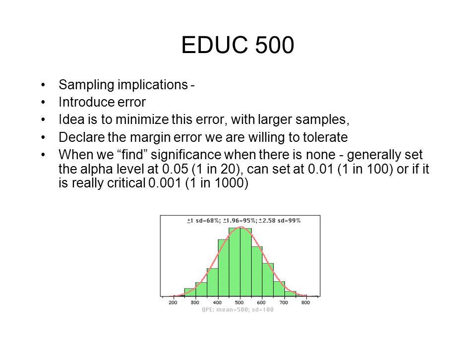 Sampling Sampling language/terminology –connected with probability theory –universe, population unit of analysis –sampling elements –sampling frame –Representativeness –sampling ratio –sampling error