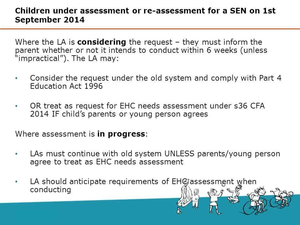 Where the LA is considering the request – they must inform the parent whether or not it intends to conduct within 6 weeks (unless impractical ).