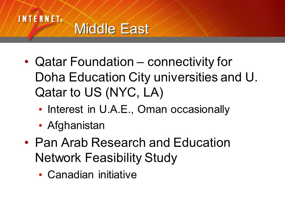Middle East Qatar Foundation – connectivity for Doha Education City universities and U.