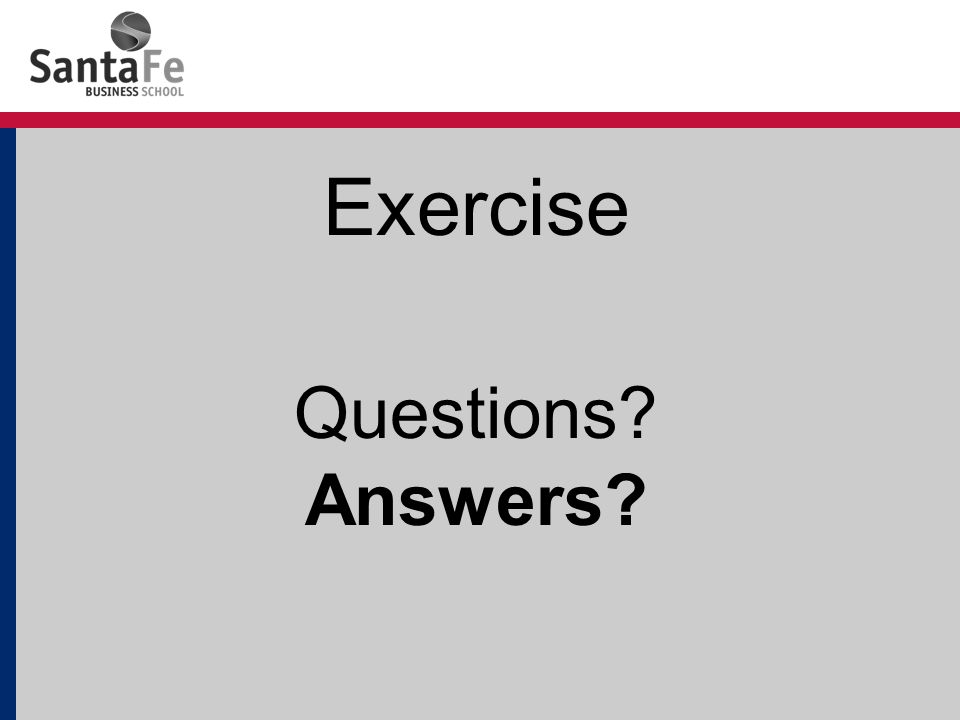 Exercise Questions Answers