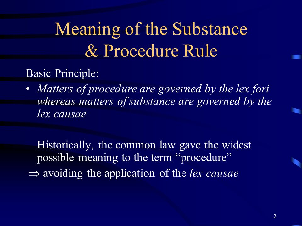 1 SUBSTANCE & PROCEDURE IN THE LAW APPLICABLE TO TORTS: Harding v Wealands George Panagopoulos Richards Butler