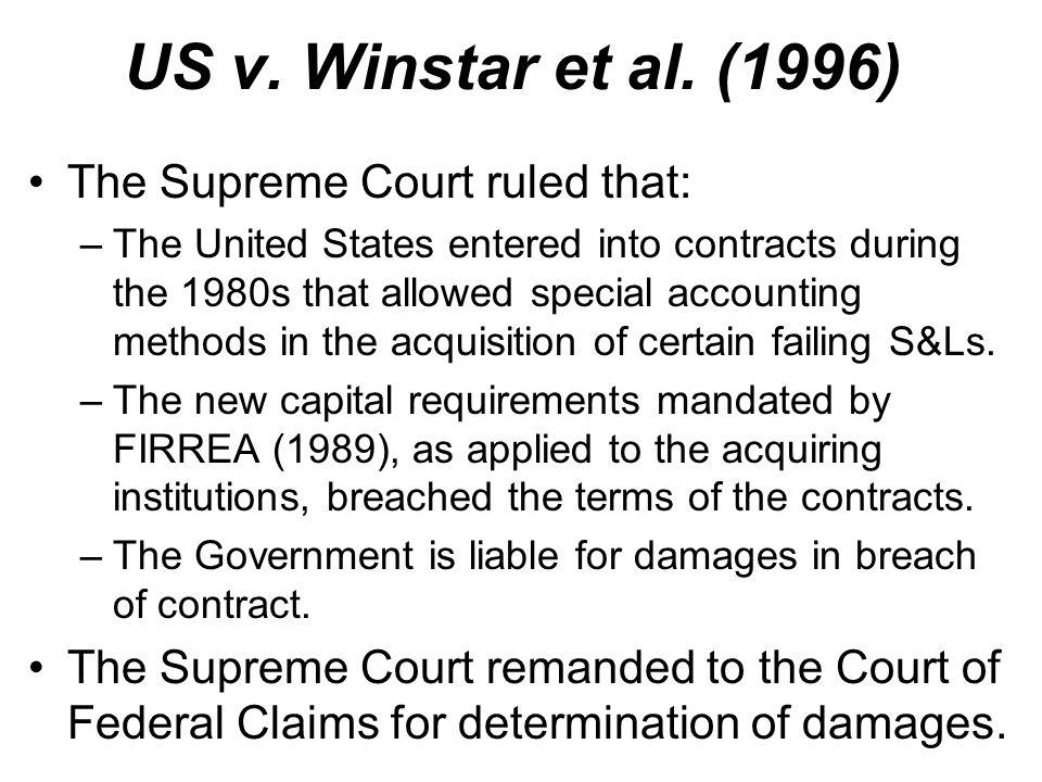 US v. Winstar et al.