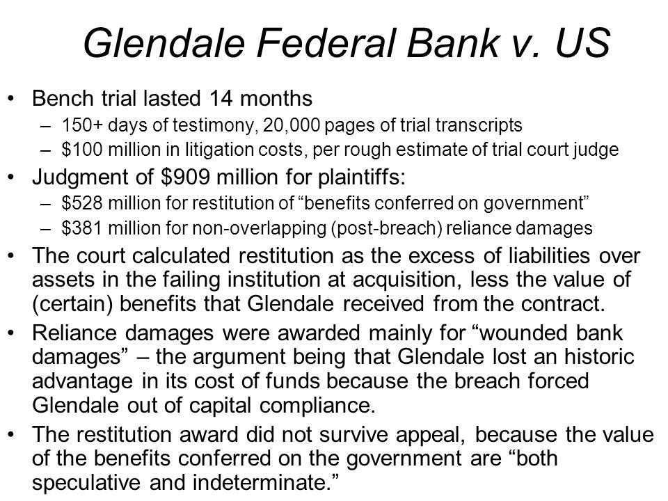 Glendale Federal Bank v.