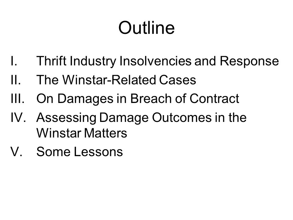 I. Thrift Industry Insolvencies and Response