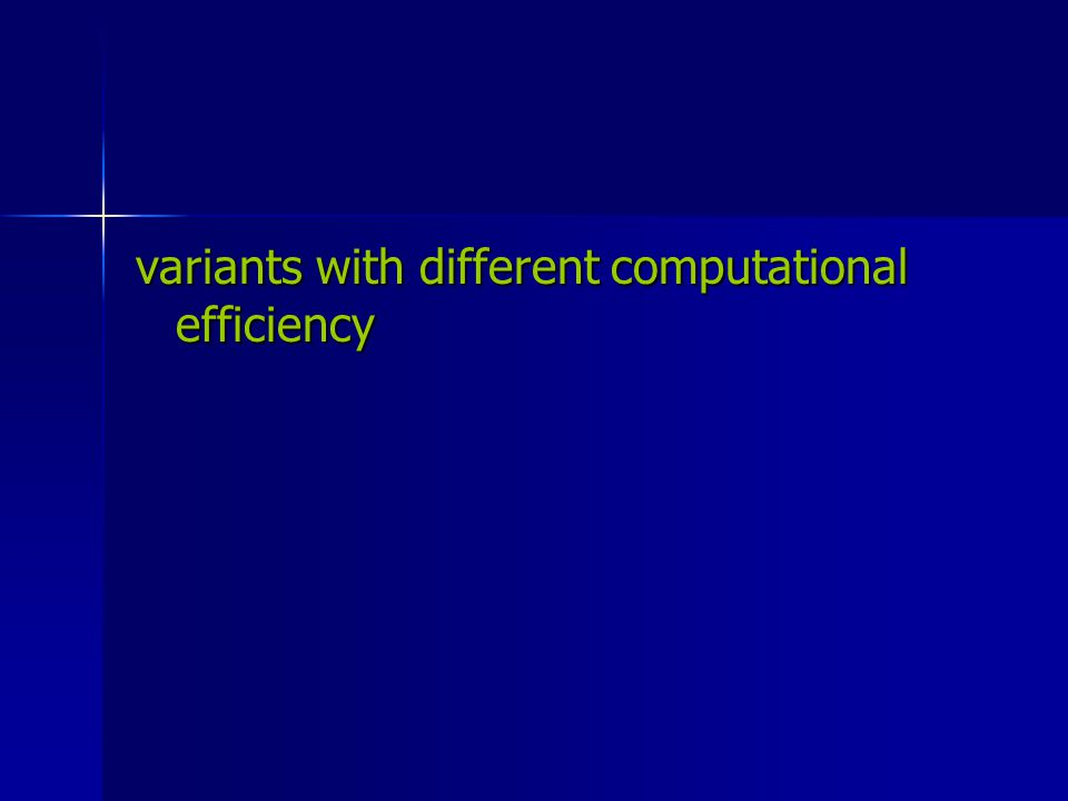 variants with different computational efficiency