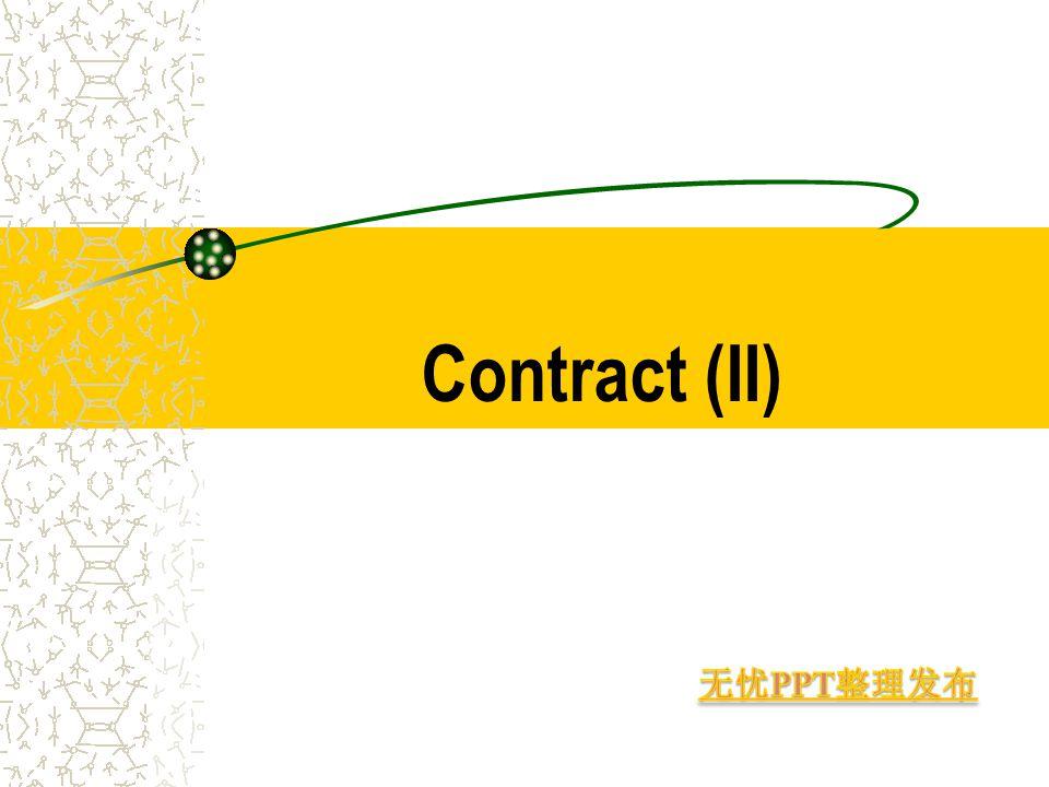 Contract (II)