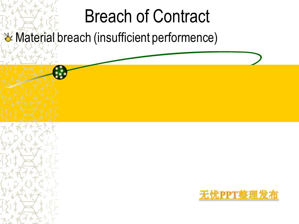 Breach of Contract Material breach (insufficient performence)