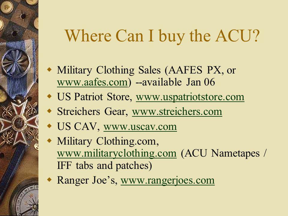 Where Can I buy the ACU.