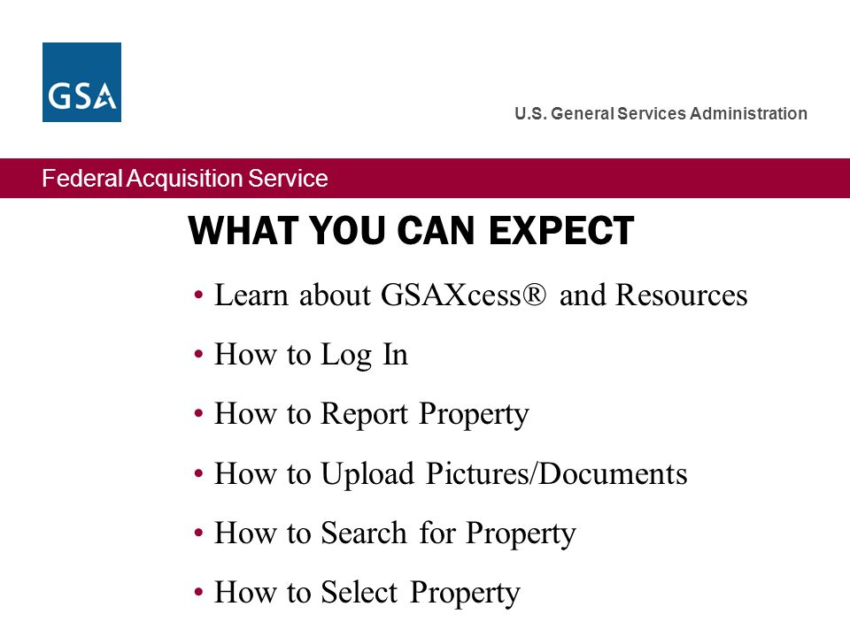Federal Acquisition Service U.S. General Services Administration Registration Email Confirmation