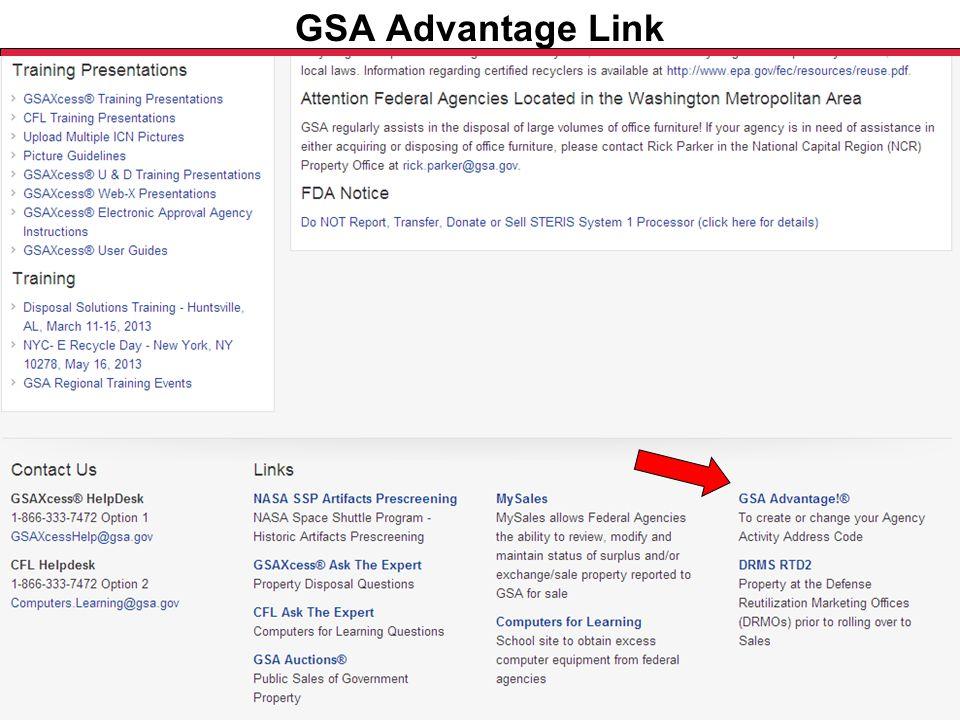 Federal Acquisition Service U.S. General Services Administration GSA Advantage Link
