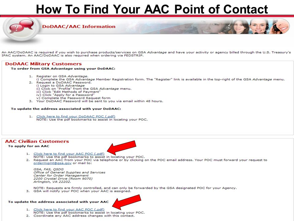 Federal Acquisition Service U.S. General Services Administration How To Find Your AAC Point of Contact